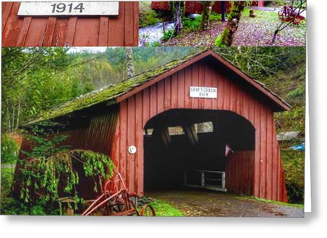 Purchase Greeting Cards - Drift Creek Covered Bridge Greeting Card by Susan Garren