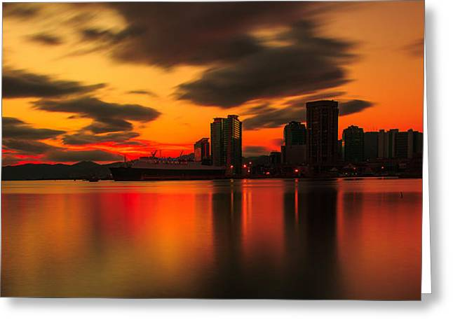 Drift Pass Port Of Spain  Greeting Card by Marcus Gonzales