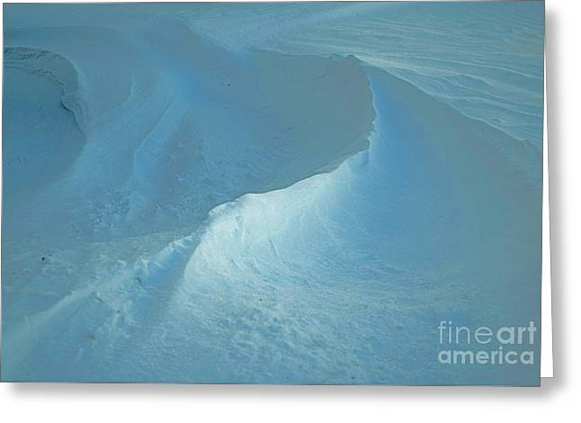 Wintry Greeting Cards - Drifted Snow Waves Greeting Card by Luther   Fine Art