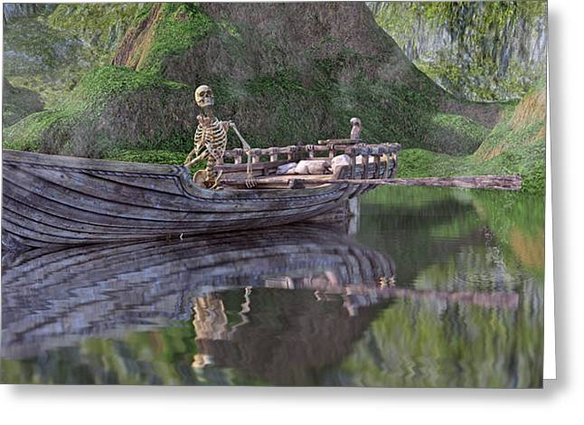 Drifter On The Lake Greeting Card by Betsy Knapp