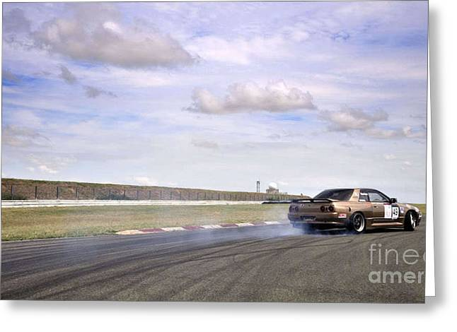Drifting At Abbeville Greeting Card by Andy Smy