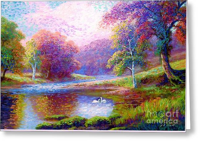 Drifting Beauty Greeting Card by Jane Small