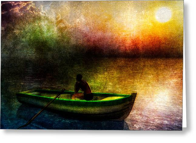 Souls Greeting Cards - Drifting Into The Light Greeting Card by Bob Orsillo