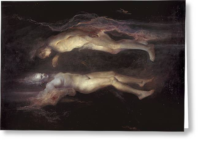 Family Love Greeting Cards - Drifting Greeting Card by Odd Nerdrum