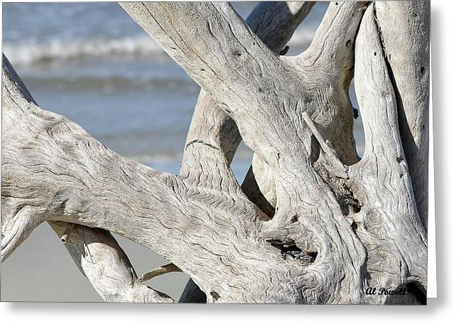 Al Powell Photography Usa Greeting Cards - Driftwood Detail Greeting Card by Al Powell Photography USA