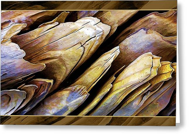 Digitally Manipulated Greeting Cards - Driftwood Edges Greeting Card by Bill Caldwell -        ABeautifulSky Photography