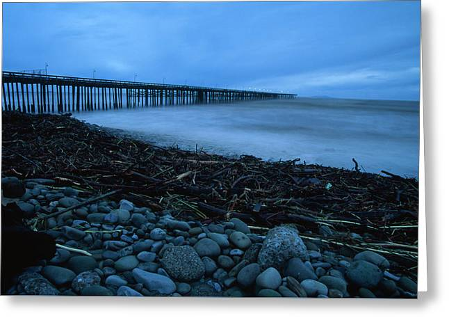 Driftwood Pileup - Ventura Pier Greeting Card by Soli Deo Gloria Wilderness And Wildlife Photography