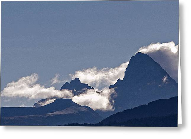 Windswept Mixed Media Greeting Cards - Driggs View - Tetons Greeting Card by Steve Ohlsen