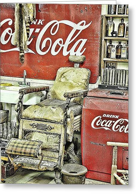 Interior Still Life Greeting Cards - Drink Coca-Cola Greeting Card by Jan Amiss Photography