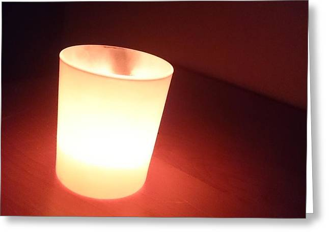 Candle Lit Greeting Cards - Drink of Light Greeting Card by Antoine Rose