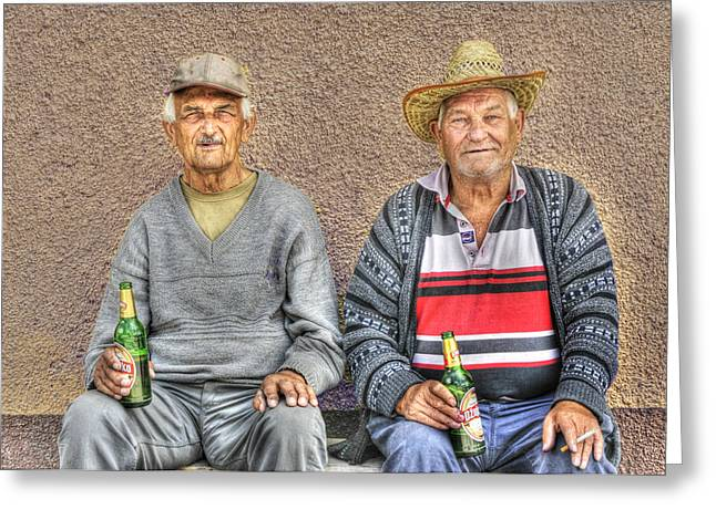 Croatia Greeting Cards - Drinking Buddies Greeting Card by Don Wolf