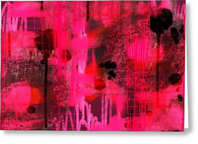 Dripping Pink Greeting Card by Lisa Noneman