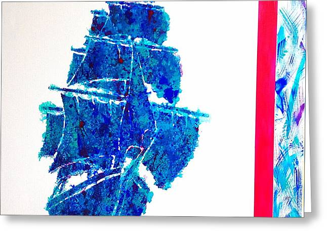 Ocean Sailing Greeting Cards - Dripping With Life Greeting Card by Syvanah  Bennett
