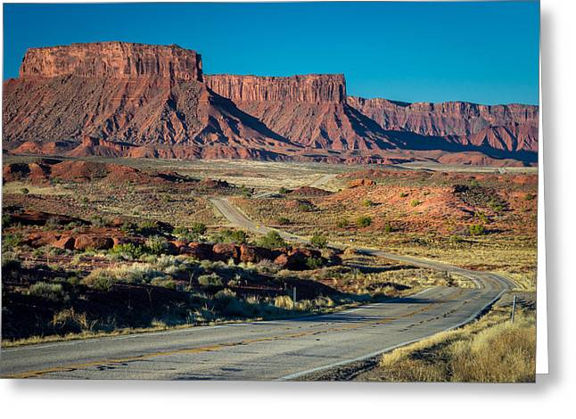 Ranch Greeting Cards - Drive Along Highway 128 Greeting Card by Michael J Bauer