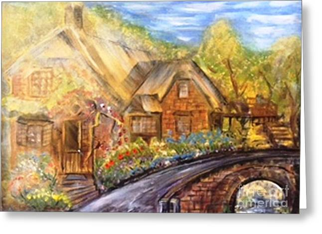 Drive Down Memory Lane Greeting Card by Sue Williams