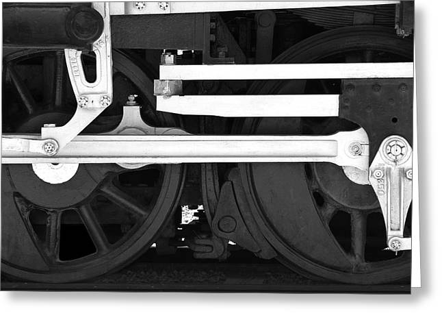 Rails Greeting Cards - Drive Train Greeting Card by Mike McGlothlen