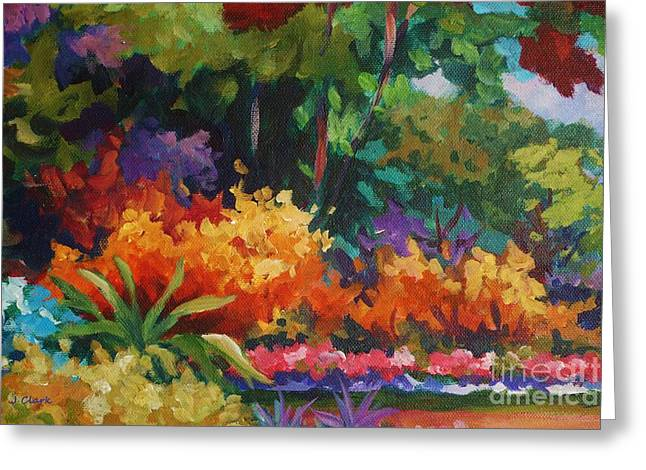 Driveway In Orange Greeting Card by John Clark