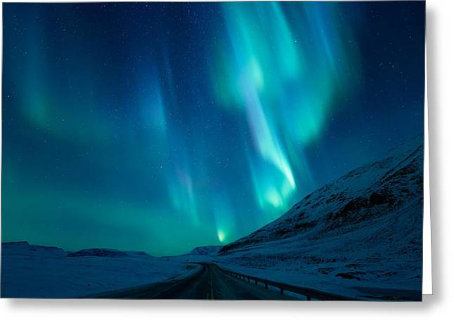 Driving Home Greeting Card by Tor-Ivar Naess
