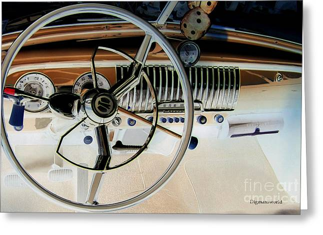 Steven Digman Greeting Cards - Driving in my Ghost Chevrolet  Greeting Card by Steven  Digman