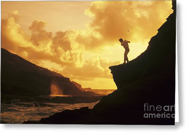 Amazing Sunset Greeting Cards - Driving Off a Cliff Greeting Card by Dana Edmunds - Printscapes