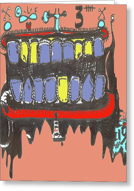 Drool Greeting Card by Robert Wolverton Jr