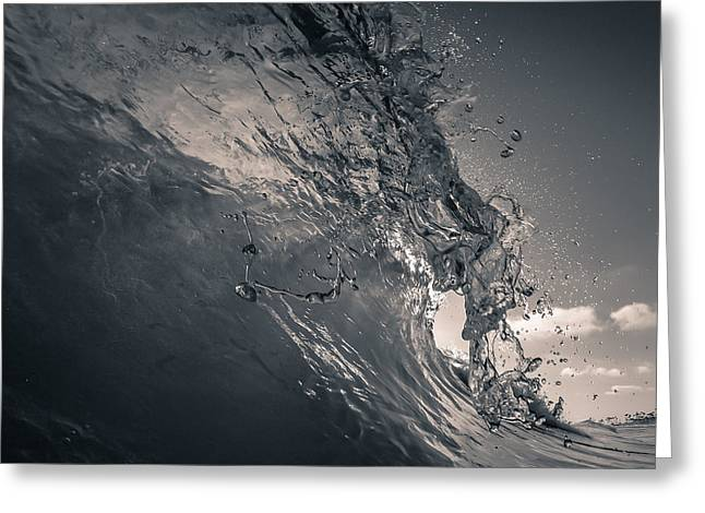 Surf City Greeting Cards - Droplets Greeting Card by Alex Nicolson