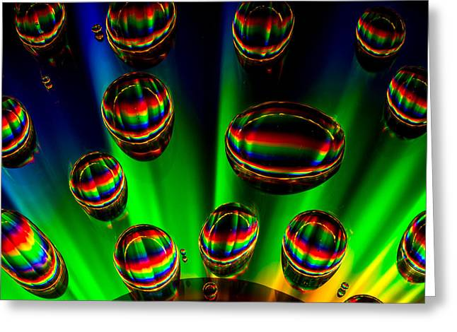 Canon 6d Digital Art Greeting Cards - Droplets on CD Greeting Card by Keith Hawley