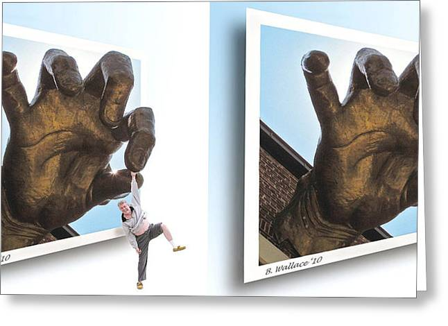 Dropout - Gently Cross Your Eyes And Focus On The Middle Image Greeting Card by Brian Wallace