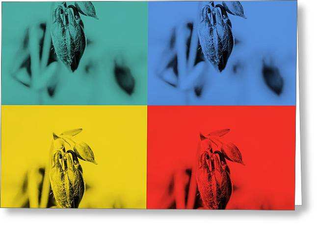 Various Digital Greeting Cards - Drops buds Popart Greeting Card by Toppart Sweden