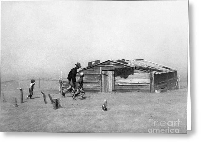 Great Depression Greeting Cards - Drought: Dust Storm, 1936 Greeting Card by Granger