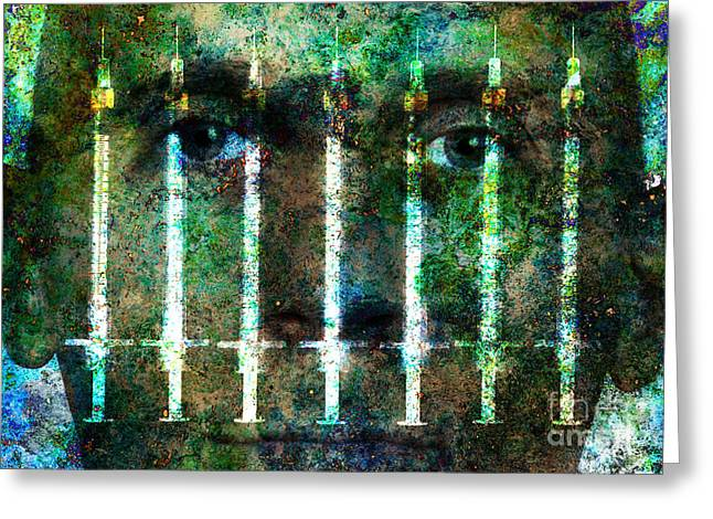 Conditions Greeting Cards - Drug Addiction Greeting Card by George Mattei