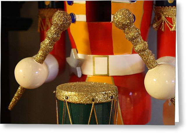 Blalock Greeting Cards - Drummer Boy Greeting Card by Dana  Oliver