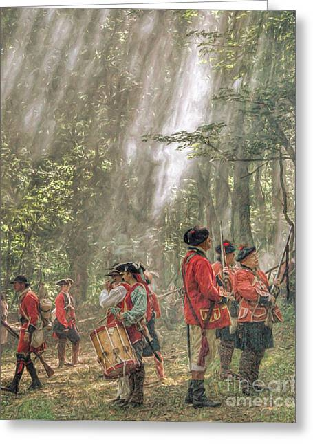 Citizens Greeting Cards - Drums in the Forest Forming for Battle Greeting Card by Randy Steele