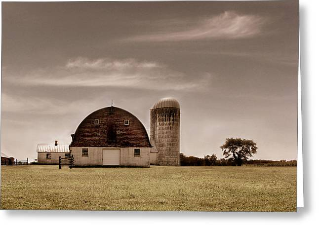 Old Barns Greeting Cards - Dry Earth Crumbles Between My Fingers and I Look to the Sky for Rain Greeting Card by Dana DiPasquale