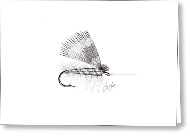 Rainbow Trout Greeting Cards - Dry Fly Greeting Card by Jay Talbot