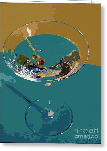 Bar Art Greeting Cards - Dry Martini Greeting Card by David Lloyd Glover