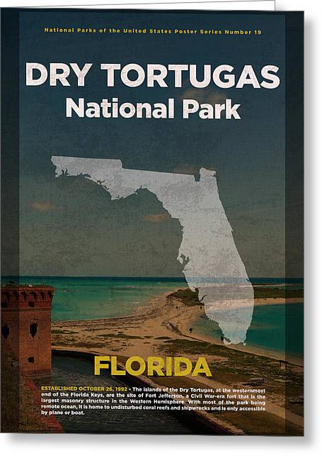 Dry Tortugas National Park In Florida Travel Poster Series Of National Parks Number 19 Greeting Card by Design Turnpike