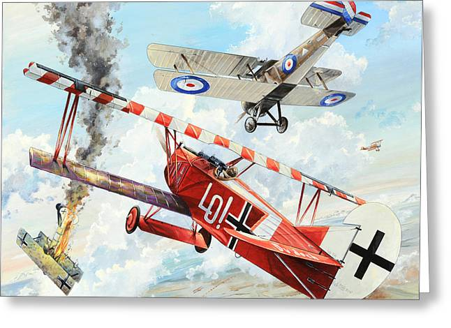 Flight Drawings Greeting Cards - Du Doch Nicht Greeting Card by Charles Taylor