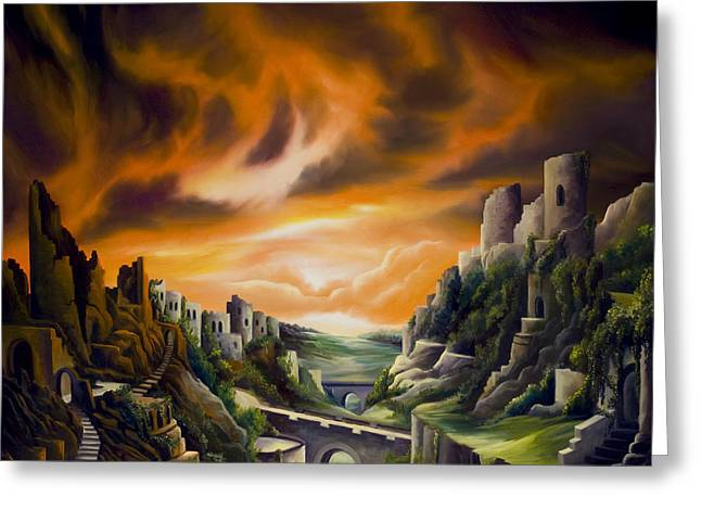 Ruined Empires Greeting Cards - DualLands Greeting Card by James Christopher Hill