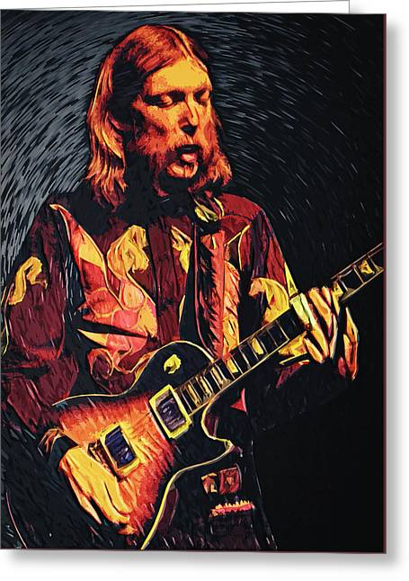 Nashville Tennessee Digital Greeting Cards - Duane Allman Greeting Card by Taylan Soyturk
