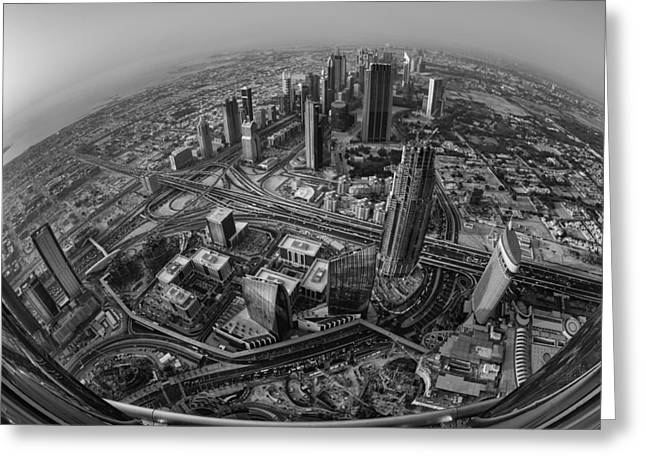 Dubai At The Top Greeting Card by Robert Work