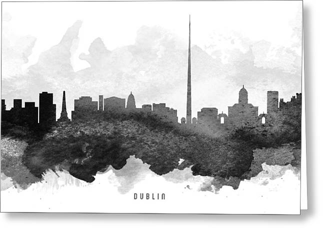 Dublin Greeting Cards - Dublin Cityscape 11 Greeting Card by Aged Pixel