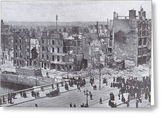 Photographs Drawings Greeting Cards - Dublin Ireland Easter Uprising 1916 Greeting Card by Ken Welsh