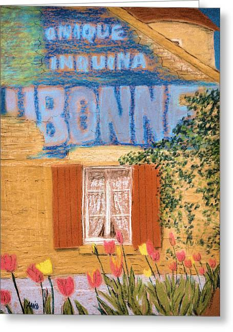 Stones Pastels Greeting Cards - Dubonnet Greeting Card by Jan Amiss