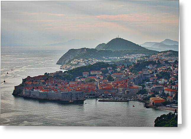 Illuminate Greeting Cards - Dubrovnik and the Dalmatian Coast Greeting Card by Stuart Litoff
