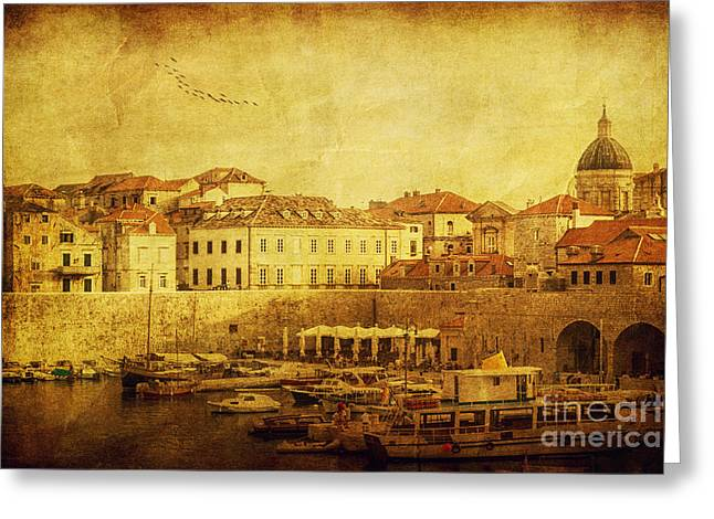 Evening Wear Greeting Cards - Dubrovnik Greeting Card by Andrew Paranavitana