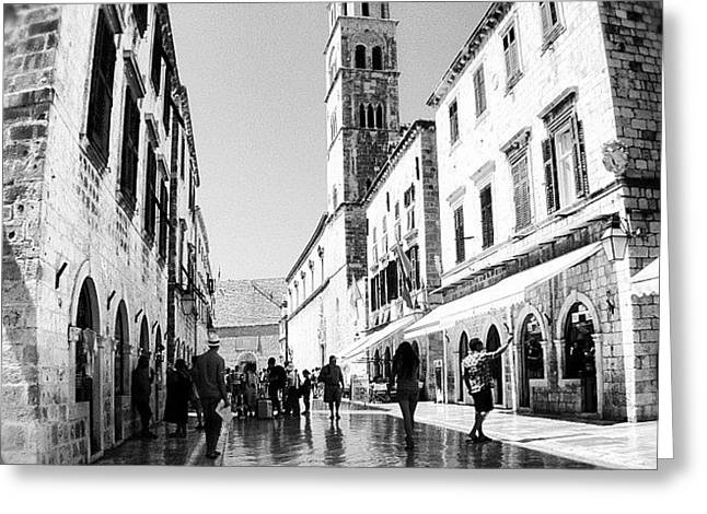 Buy Greeting Cards - #dubrovnik #b&w #edit Greeting Card by Alan Khalfin