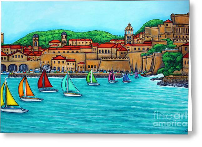 Lisa Lorenz Greeting Cards - Dubrovnik Regatta Greeting Card by Lisa  Lorenz