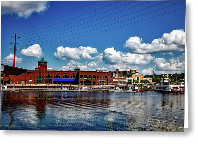Dubuque Iowa Waterfront Greeting Card by Mountain Dreams