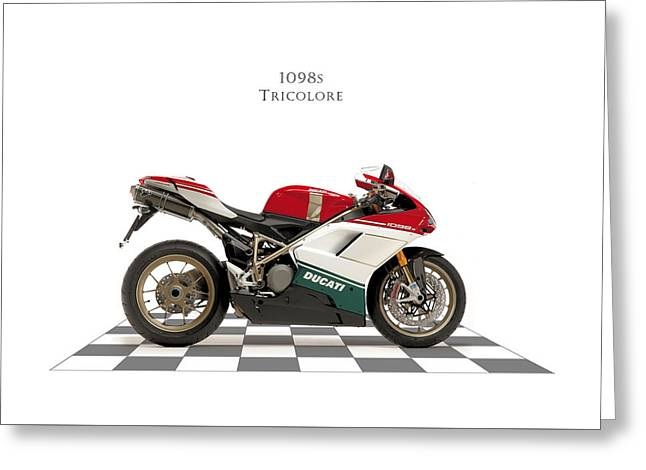 Ducati 1098s Tricolore Greeting Card by Mark Rogan